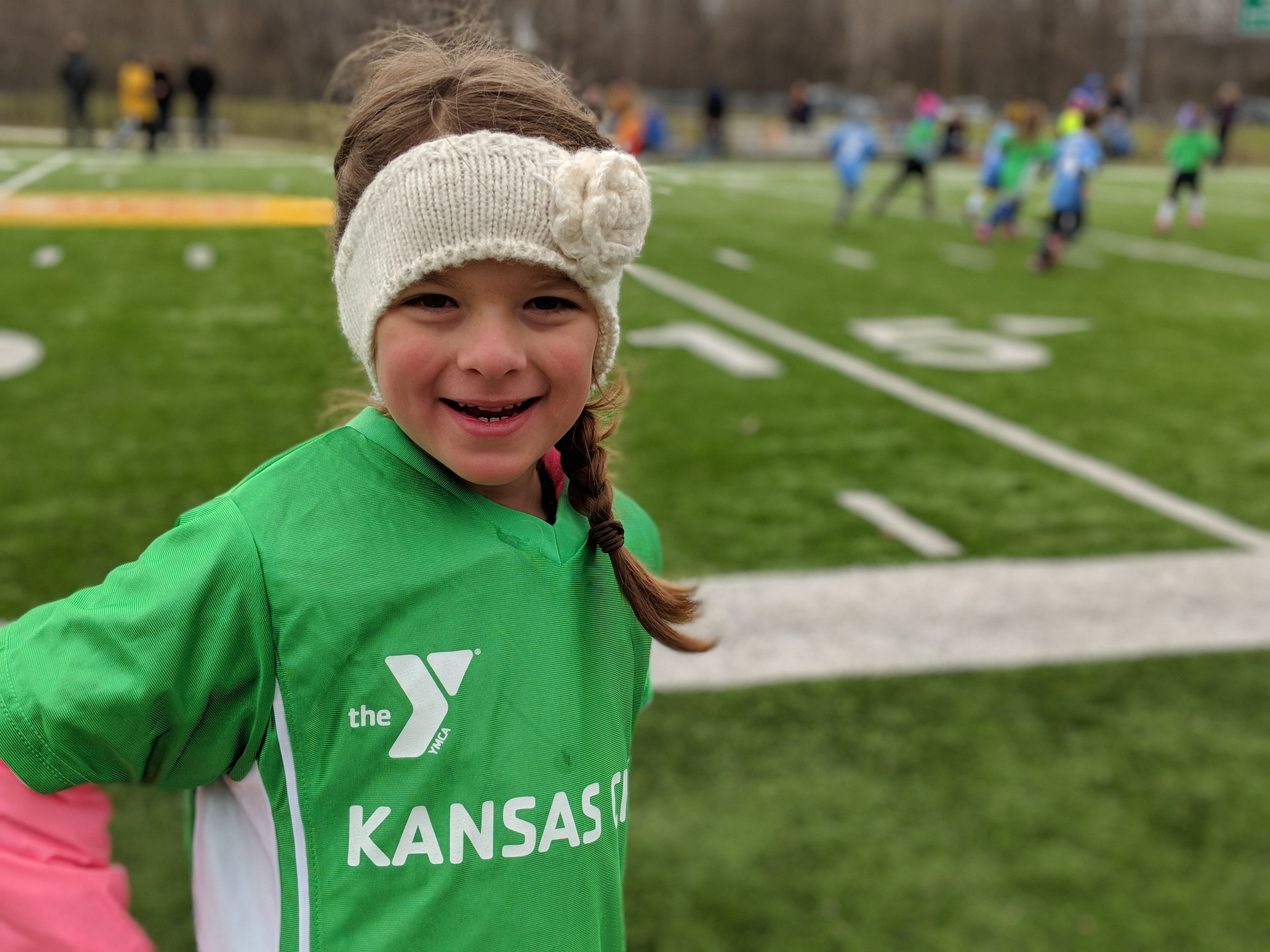 Kate\'s first soccer game
